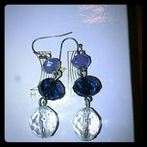 A Tri-Color Pair of Ball Earrings